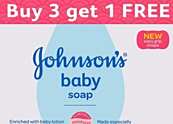 Flat 50% Off On Johnson's Baby Soap (100g, Buy 3 Get 1 Free) low price