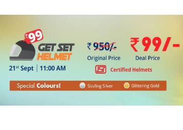 DROOM Get Set Helmet at Just Rs. 99 [Worth Rs. 950] discount deal