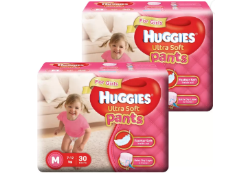 Huggies Ultra Soft Pants Combo – M (60 Pieces) at Flat 51% OFF discount deal