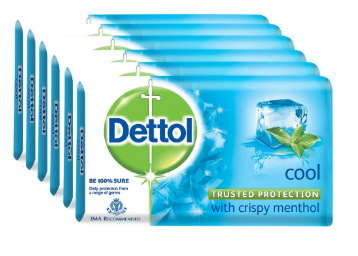 Dettol Cool Soap – 125 g (Pack of 6) At Rs.138 discount deal