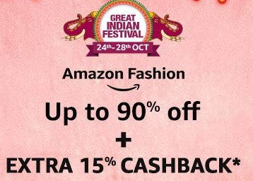 Updated:- Big Brands Up to 90% Off + Extra 15% Cashback with No Shipping discount deal