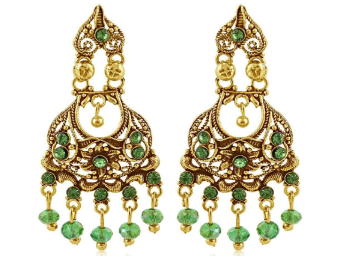 Flat 92% Off: Sukkhi Copper Chandelier Earrings for Women At Just Rs.85 discount deal