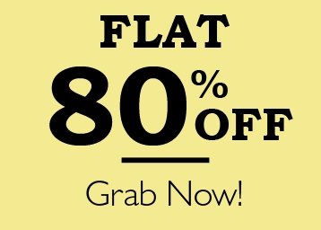 Bumper Deal- Products All Categories Flat 80% Off + 10% Cashback discount deal