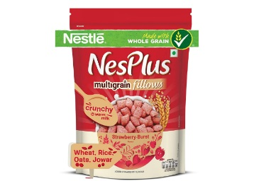 Flat 50% Off On NesPlus Multigrain Fillows, Strawberry Burst, 250g discount offer