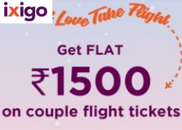 Let Love Take Flight - Flat Rs 1500 instant Off on Couple Flights at