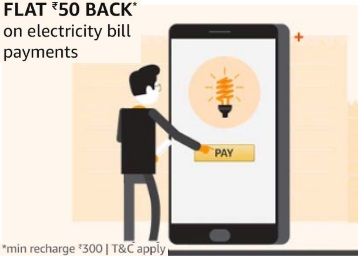 User Specific ] Flat Rs 60 Cashback on Electricity Bill