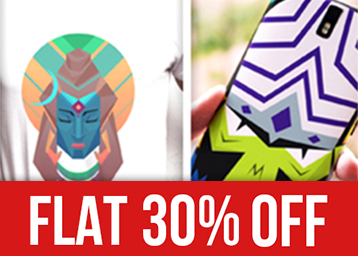 new styles 42899 4edfc Flat 30% OFF On Designer T-Shirts, Phone Cases, Posters And Laptop ...