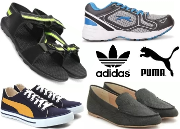 Get Flat 40%-80% off on Top Brand Footwear {PUMA, Adidas, Lee, Lotto & More} discount offer