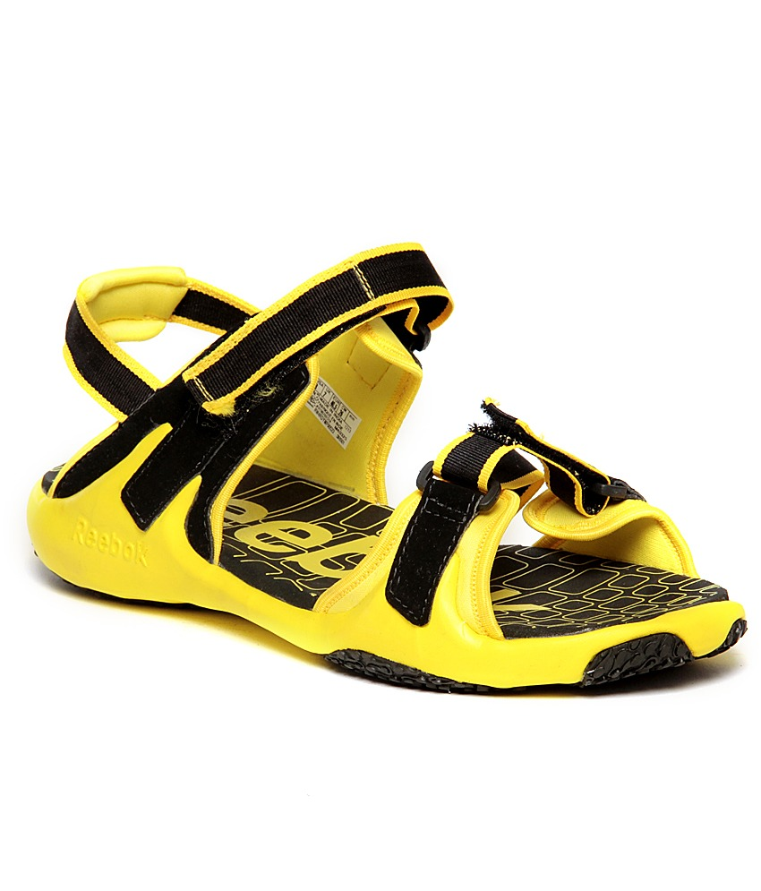 d6eaafc50 ... Deals     Reebok Adventure Grail Lp Black   Yellow Floater Sandals.  Freekaamaal.com