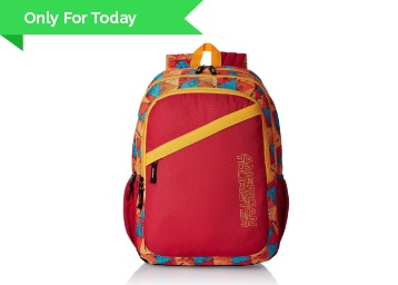 American Tourister 27 Lts Hashtag Red Casual Backpack at 65% Off + FREE Shipping low price