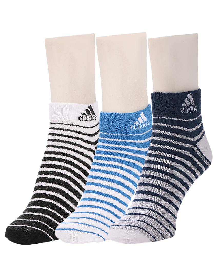 228f56a97 Adidas Men s Flat Knit Quarter Socks - 3 pair pack 40% Off at  FreeKaaMaal.com