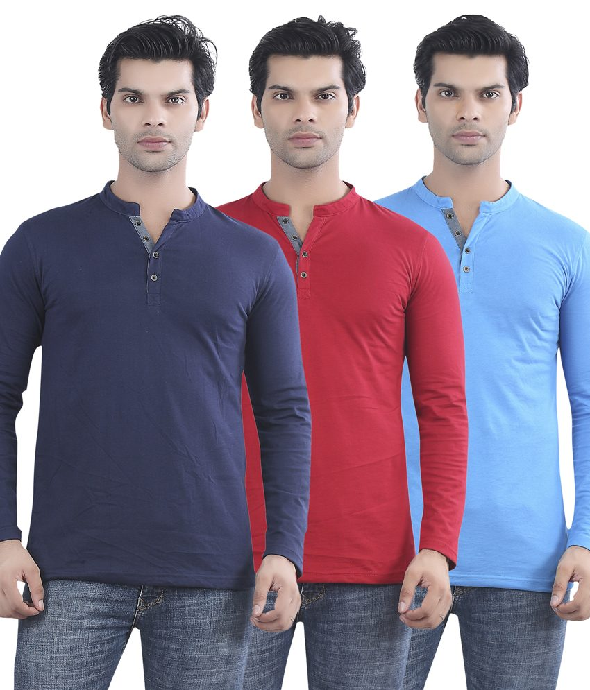 Maniac Multicolour Cotton T-shirt – Pack Of 3 at FLAT 70% OFF + Free Shipping discount offer