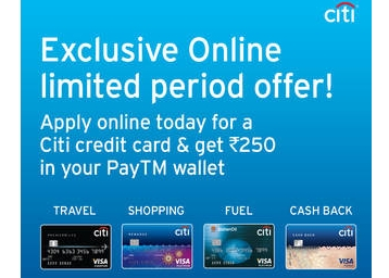get free paytm cash when you apply for citi credit card for free at. Black Bedroom Furniture Sets. Home Design Ideas