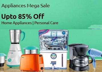 Upto 85% off on Home and Personal Care Appliances low price