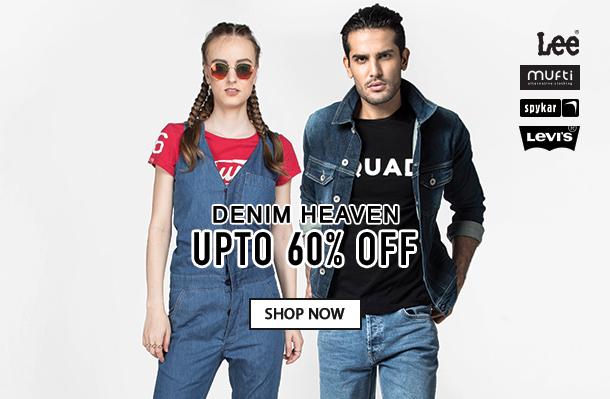 1692affa ... Jabong Brand Sale:-Denim Heaven Jeans At Upto 60% Off. Freekaamaal.com