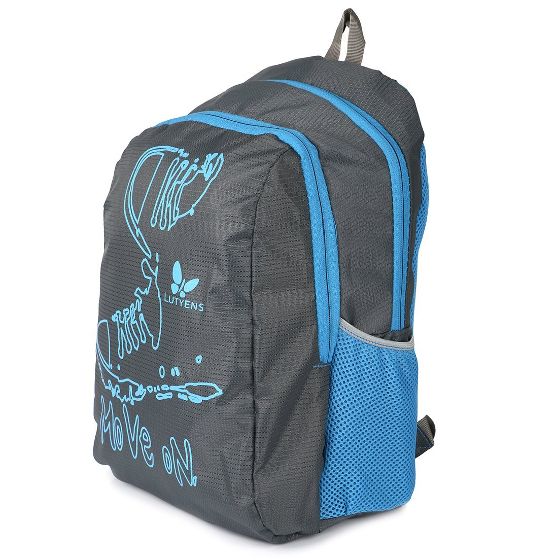 Lutyens Polyester Black Blue School Bags (17 Liters) at 70% off discount offer