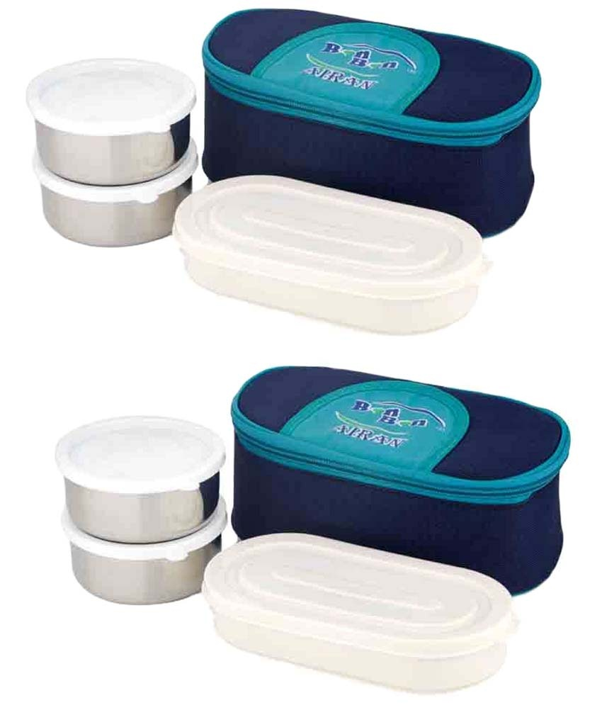 0c19c0188f1 Airan Stainless Steel Bon Bon Lunch Box 3 Pcs Buy 1 Get 1 Free at  FreeKaaMaal.com