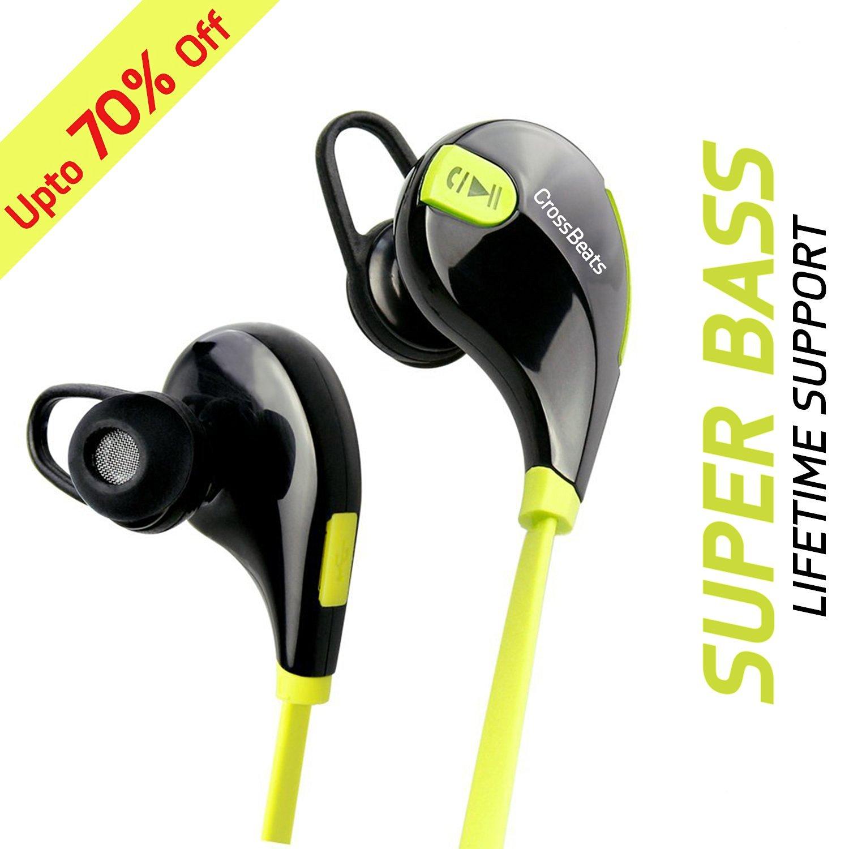 e0aeb45c879 CrossBeats Aura Bluetooth 4.1 Lightweight Wireless Headphones at  FreeKaaMaal.com