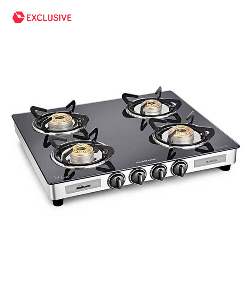 52dd3049b ... Sunflame 4 Burner Gas Stove at 46% OFF + 5% Off on all BANK Cards.  Freekaamaal.com