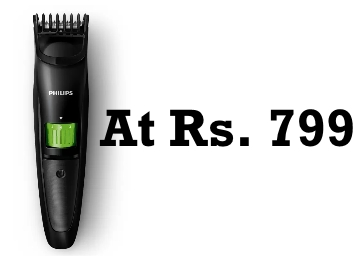 Flat 50% Off – Philips QT3310/15 USB Trimmer For Men at Just Rs. 799 + FREE Shipping low price