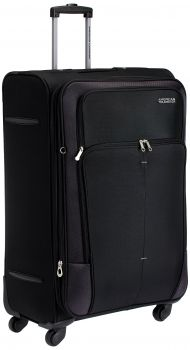 American Tourister Crete Polyester 77cms Black Softsided Suitcase low price