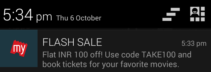 Get Flat 100 Rs Off on book my show discount offer