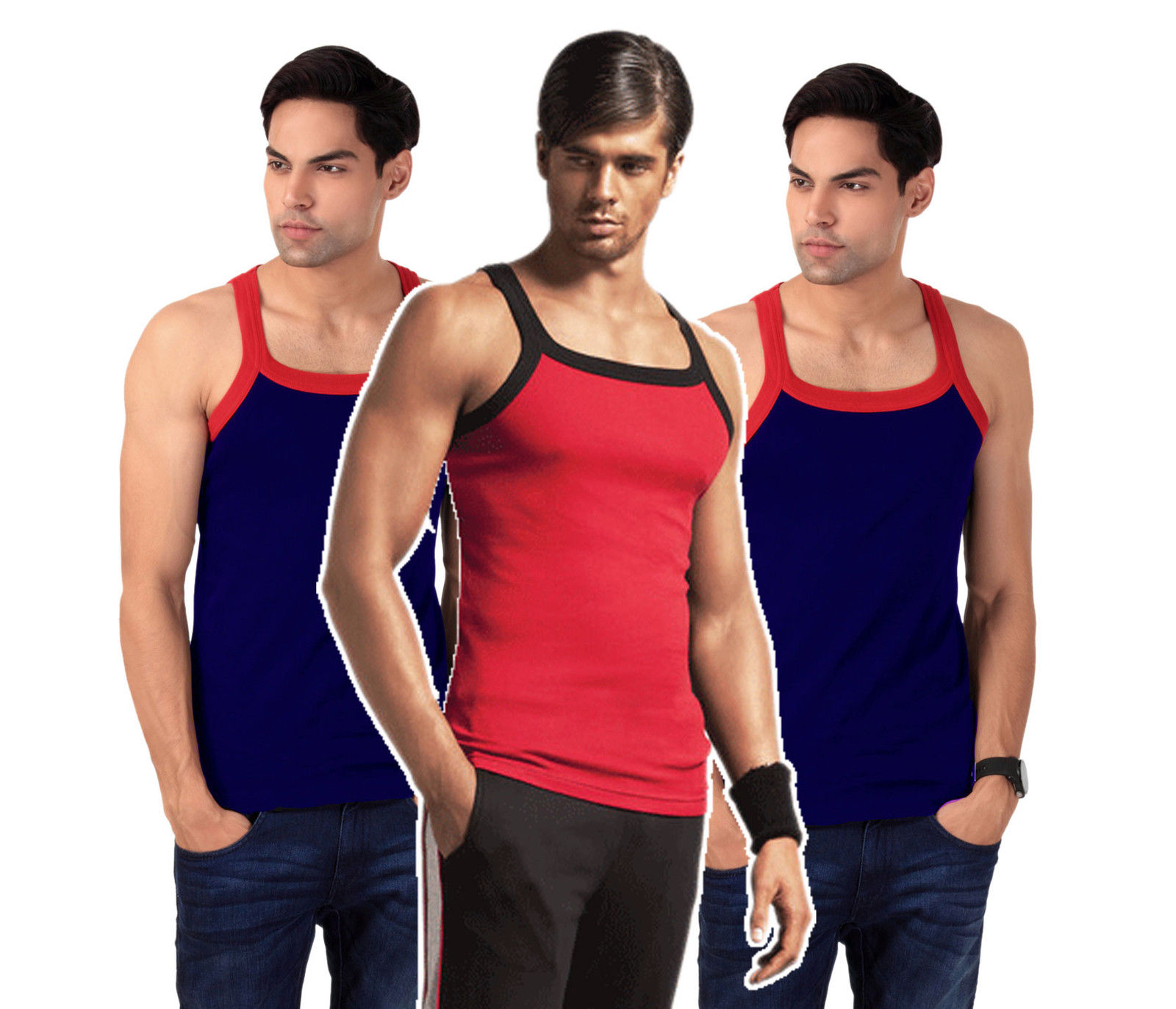 FKM Exclusive [New Users] Gym Vest Combo of 3 at Rs. 100 Off discount offer