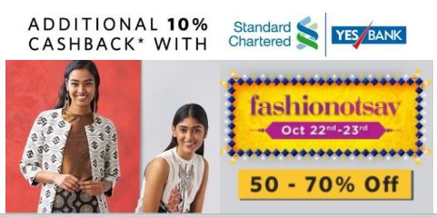 Myntra Fashionotsav : Get 50 to 70% Off On Women's Top Brands low price