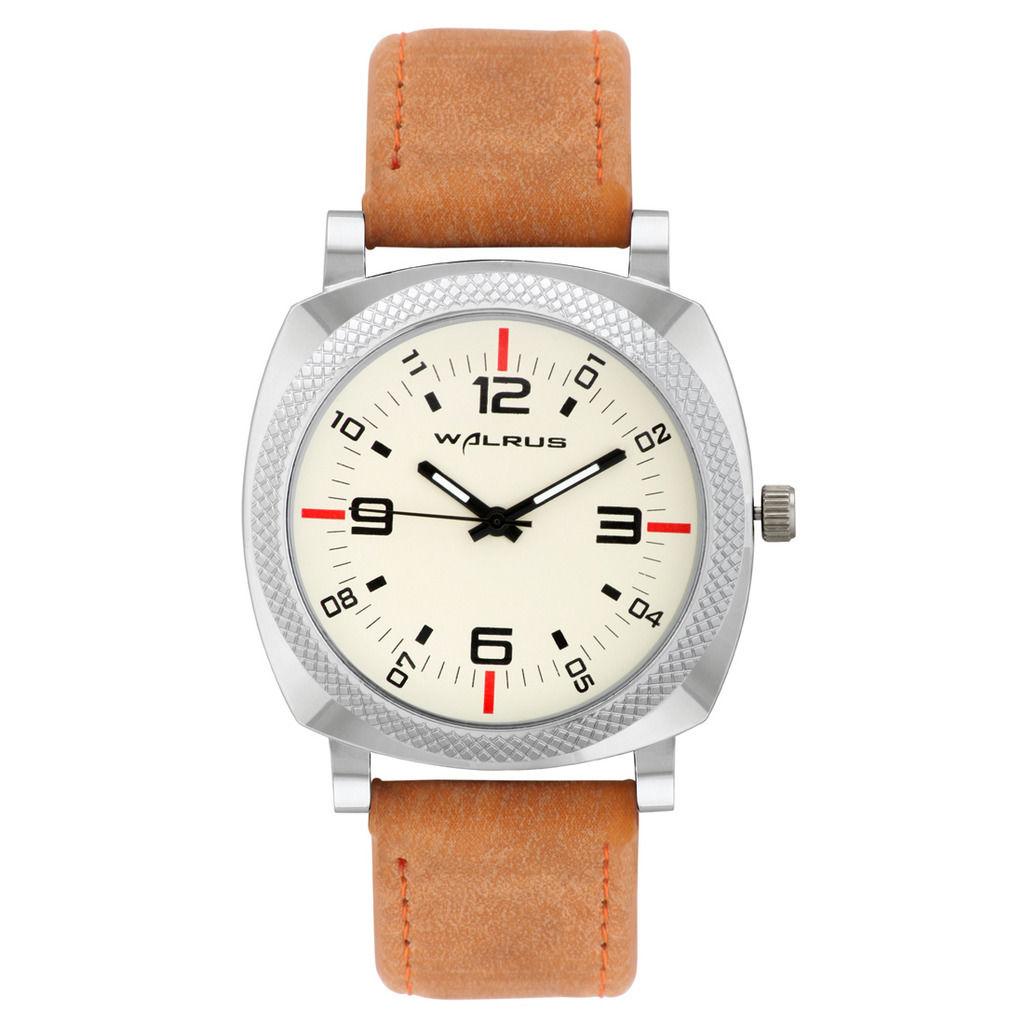 FKM Exclusive – Laurels Walrus 1 Analog Beige Dial Men's Watch low price