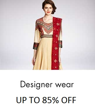 Upto 85% off on Women's Designer Wear Collection