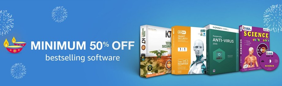 Get Minimum 50% off on Bestselling Softwares low price