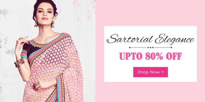 Upto 80% off on Sarees+ Extra 350 off+ 25% off on online payments