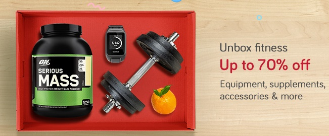Upto 70% off on Fitness and Sports Products + Bank Offers low price