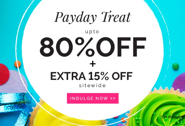 Zivame Payday Treat – Upto 80% off + Extra 15% off low price