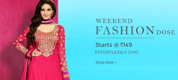 Get Womens Clothing, starting from Rs. 149 Onwards