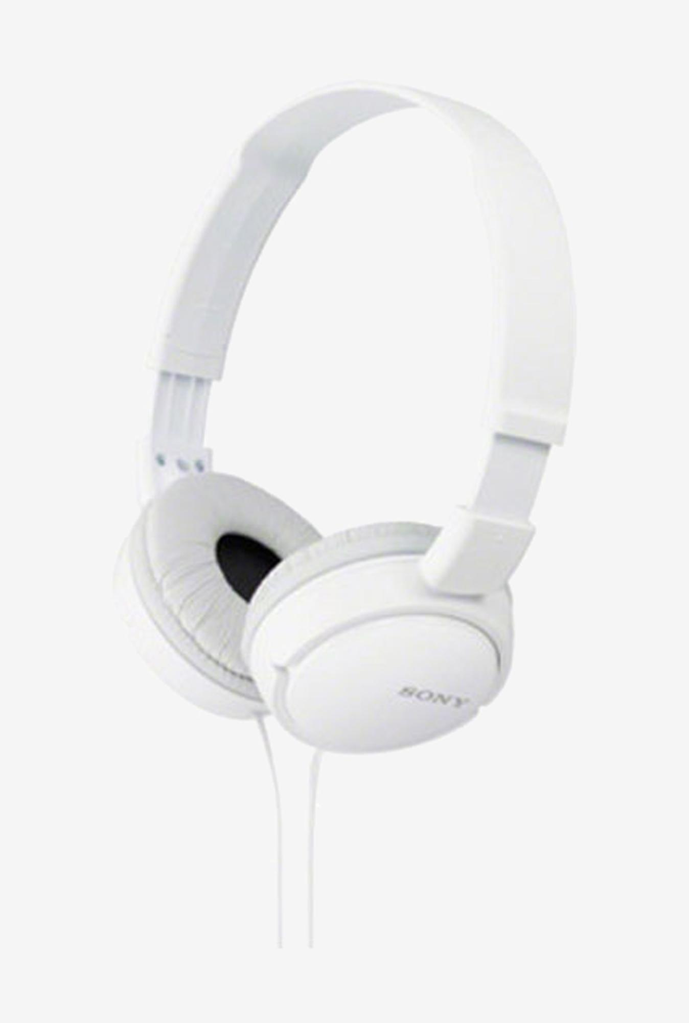 Sony MDR-ZX110A On the Ear Headphone, White
