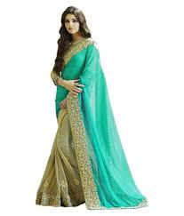 Dressy Multicoloured Georgette Saree low price