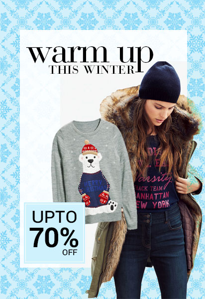 Get Upto 70% OFF on Winter Wear + Extra 20% Cashback discount offer