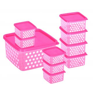 Joyo Fresia Container Pink 10 Pcs Set at FLAT 43% OFF + Extra 10% OFF discount offer