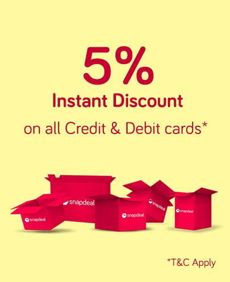 Get 5% Instant Discount on All Credit and Debit cards discount offer