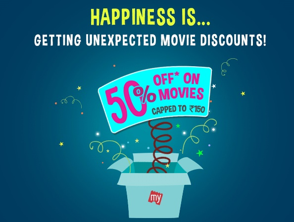 Get FLAT 50% off on Movie Tickets at Bookmyshow discount offer