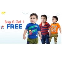 Kids Clothing at Buy 2 Get 1 Free @ Firstcry discount offer
