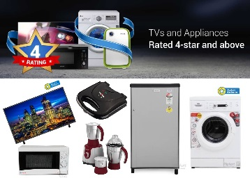 [Rated 4 Star* & Above] TVs & Appliances at Upto 43% Off + Exchange Upto Rs. 25000 discount offer