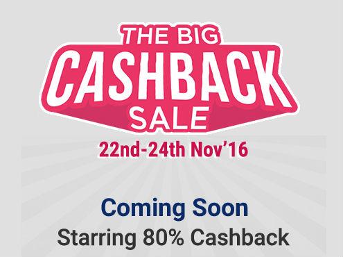 (Upcoming) Paytm The Big Cashback Sale – Get Upto 80% Cashback on Everything discount offer