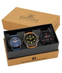 Get Gesture Watches – Pack of 3 at FLAT 65% Off (Lowest Online) discount offer