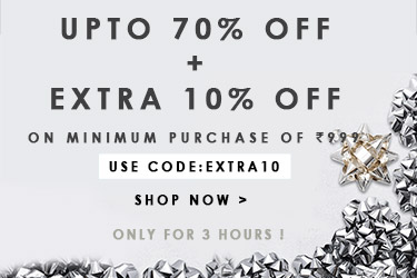Upto 70% Off + Extra 10% Off + Extra 25% Off online pay discount offer