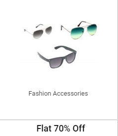 FLAT 70% OFF or more on Fashion Accessories discount offer