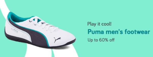 Upto 60% off on Puma Men's Footwear discount offer