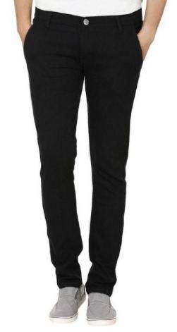 Urbano Fashion Black Slim Solid At FLAT 75% Off discount offer