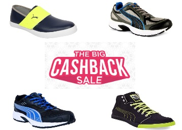 Big Cashback Sale : Grab Puma Shoes at Up to 65% Off discount offer